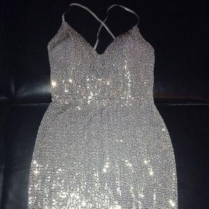 Double Tap Sequin Dress
